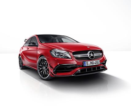 Mercedes-AMG A 45 4MATIC,jupiter rot, AMG Night-Paket, AMG Aerodynamik-Paket,jupiter red, AMG Night package, AMG Aerodynamics package