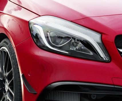 Mercedes-AMG A 45 4MATIC,jupiter rot, AMG Night-Paket, AMG Aerodynamik-Paket, Intelligent -Light -Systemjupiter red, AMG Night package, AMG Aerodynamics package , Intelligent light system